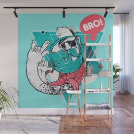 Hipster Bro! Cool Dude with Beard Wall Mural