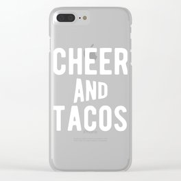 Cheer And Tacos Funny Cheerleader Graphic Clear iPhone Case