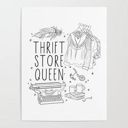 Thrift Store Queen Poster