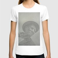 gray T-shirts featuring Gray by CataBeja Umaña Azul