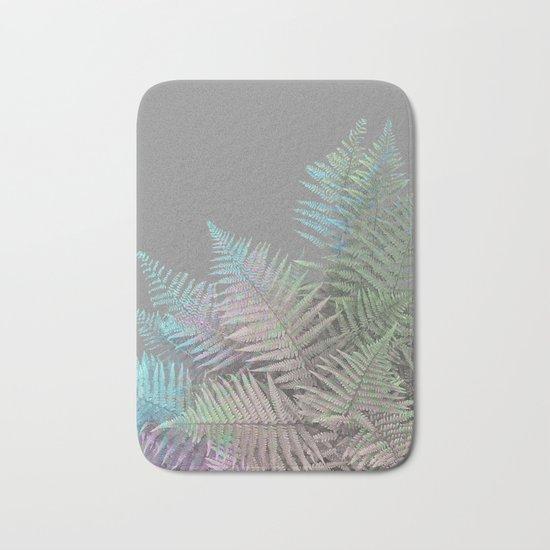 Rainbow Fern on Grey #decor #buyart #foliage Bath Mat