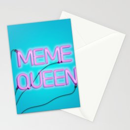 Meme queen Stationery Cards