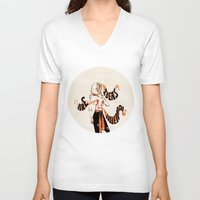enjolras V-neck T-shirts featuring Ideas are bulletproof by mnlls