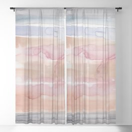 28  | 191215 | Abstract Watercolor Pattern Painting Sheer Curtain