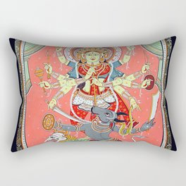 Hindu Durga 5 Rectangular Pillow