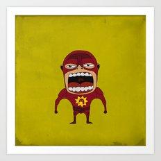 Screaming Crimson Bolt Art Print