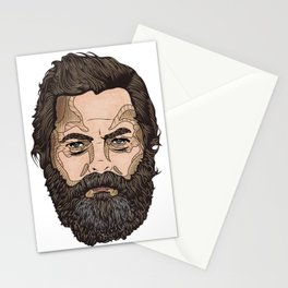 The Face Of Nick Offerman Stationery Cards
