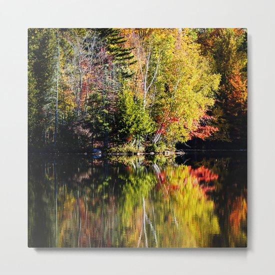 reflecting autumn Metal Print