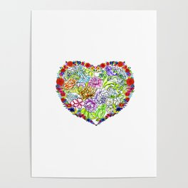flowers in the heart ( https://society6.com/totalflora/collection ) Poster