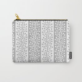 Mid Century Modern Berry Vine Stripes Gray Carry-All Pouch
