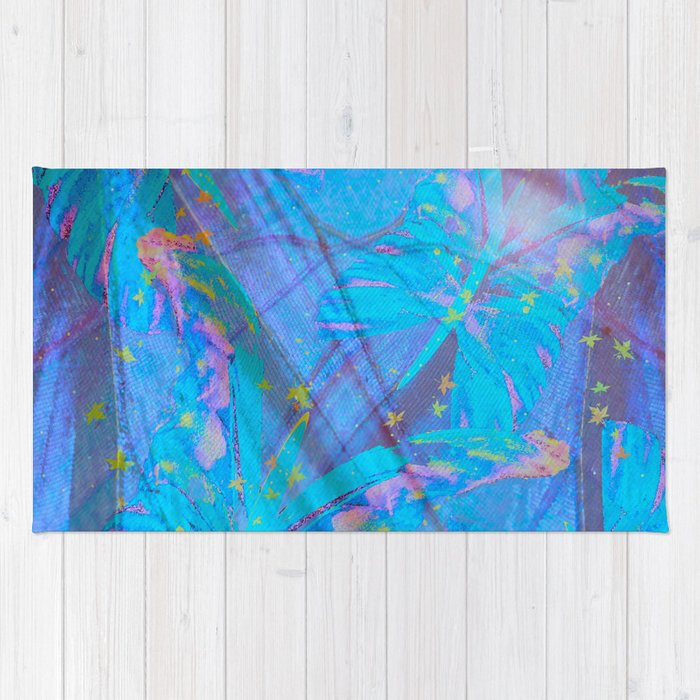Butterflies On A Turquoise Background #decor #society6 Rug