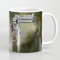 rick grimes Mugs featuring Rick Grimes by Paulo Fodra