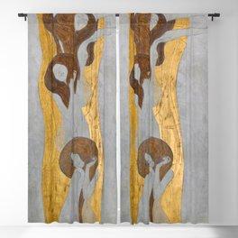 Gustav Klimt - Die Künste Blackout Curtain