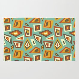 African Abstract Geometric Retro Rug