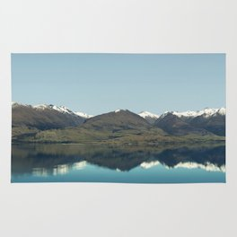 Blue reflections of mountains Rug