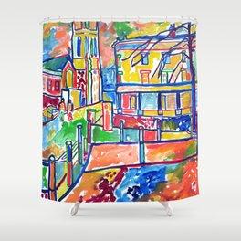 Street Scene Shower Curtain