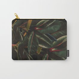 Rubber Plant Leaves Minimal Carry-All Pouch