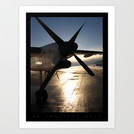 The Luster of the Plane Propeller  Art Print