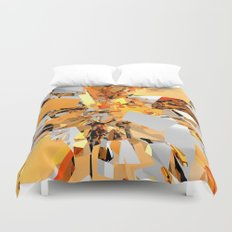 Abstract Orange Shapes Cluster Duvet Cover