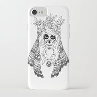calavera iPhone & iPod Cases featuring Calavera by Caz Lock Draws