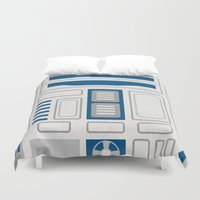 r2d2 Duvet Covers featuring R2D2 by Alison Lee