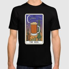 Beer Reading Mens Fitted Tee Black LARGE