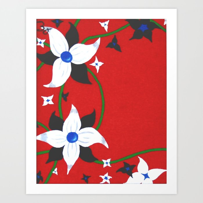 One of Two: Flower Duo Left Art Print