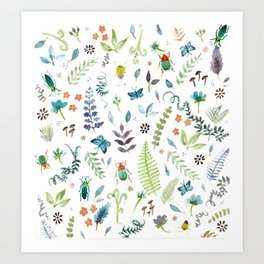 Beetles and Butters Art Print