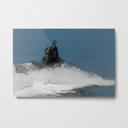 Ready to Make Waves - Jet Skier Metal Print