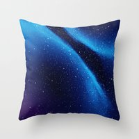 Throw Pillows featuring Night Sky by Anrys Hocefal