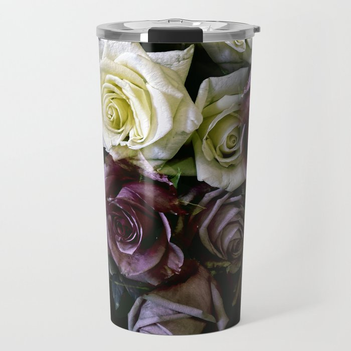 Roses Dark Moody Old Masters Travel Mug