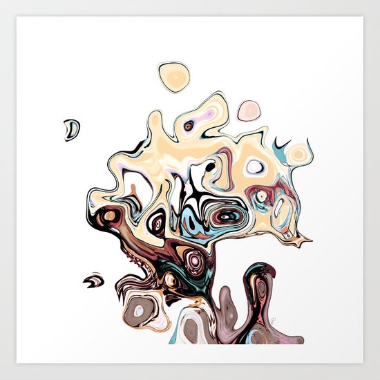another head__going grazzzyyyy Art Print