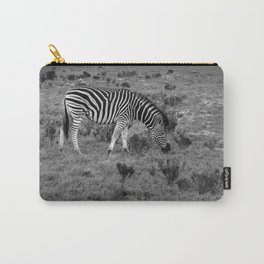 Zebra grazing on African savanna Carry-All Pouch