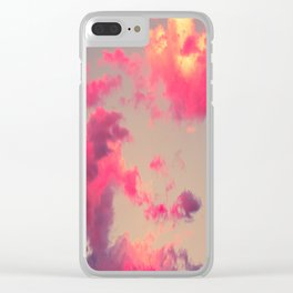 Fluffy Clouds Clear iPhone Case