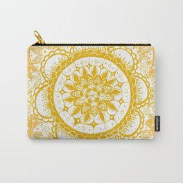 Orange Kaleidoscope Patterned Mandala Carry-All Pouch