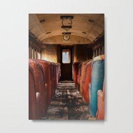 Toward the Light - Abandoned Passenger Train Metal Print
