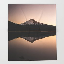 Oregon Mountain Adventure Throw Blanket