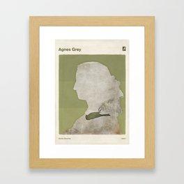 Anne Brontë Agnes Grey - Minimalist literary design Framed Art Print