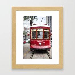 New Orleans 2023 Canal Streetcar Framed Art Print
