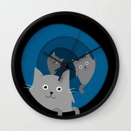 Through the Cat Hole Wall Clock