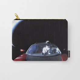 SpaceX Starman Leaving Earth Car in Space Tesla Roadster Floating Above Eart Carry-All Pouch