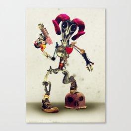 Invader Skull Canvas Print