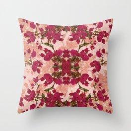 Retro Vintage Floral Motif Throw Pillow