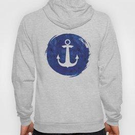 Watercolor Ship's Anchor Hoody