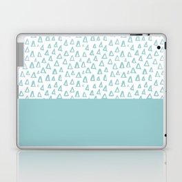 Triangles Mint Laptop & iPad Skin
