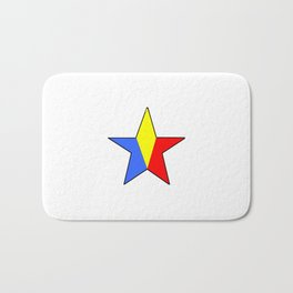 Flag of romania 6 -romania,romanian,balkan,bucharest,danube,romani,romana,bucuresti Bath Mat