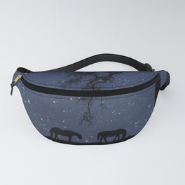 Starry Night, Horse and Moon Fanny Pack
