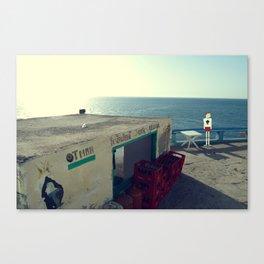 Otman Restaurant with PixelBoy Canvas Print