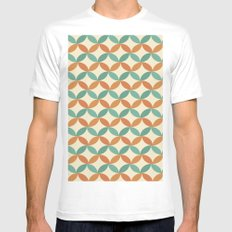 Midcentury Pattern 01 White MEDIUM Mens Fitted Tee