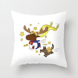 Sailor Moon Moose - Sabriel Version Throw Pillow